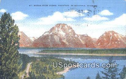 Mt Moran - Signal Mountain, Wyoming WY Postcard