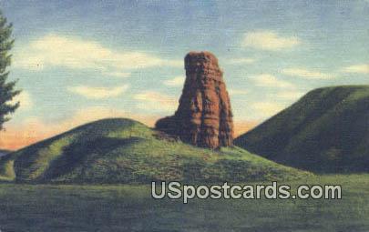 Red Pillar - Big Horn Mountains, Wyoming WY Postcard