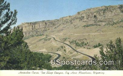 Horseshoe Curve - Big Horn Mountains, Wyoming WY Postcard