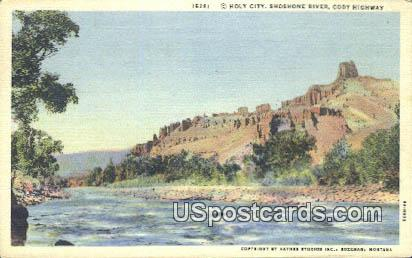 Holy City, Shoshone Canyon - Cody Highway, Wyoming WY Postcard