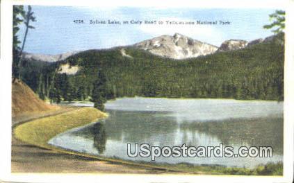Sylvan Lake - Yellowstone National Park, Wyoming WY Postcard