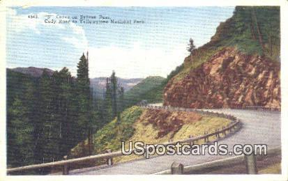 S Curve, Sylvan Pass - Yellowstone National Park, Wyoming WY Postcard