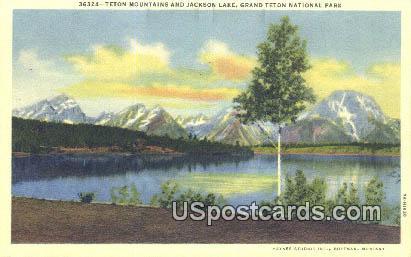 Teton Mountains - Grand Teton National Park, Wyoming WY Postcard