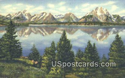 Teton Peaks - Grand Teton National Park, Wyoming WY Postcard