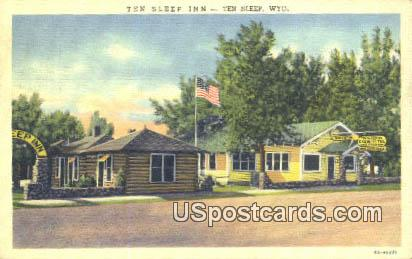 Ten Sleep Inn - Wyoming WY Postcard