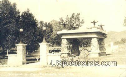 Real Photo Washakie Fountain - Real Photo Thermopolis, Wyoming WY Postcard
