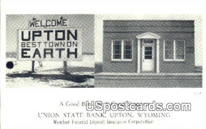 Union State Bank - Upton, Wyoming WY Postcard
