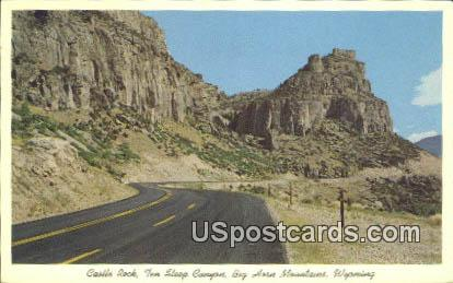 Castle - Big Horn Mountains, Wyoming WY Postcard