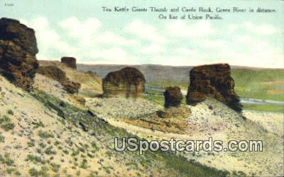 Tea Kettle Giants Thumb, Castle Rock - Green River, Wyoming WY Postcard