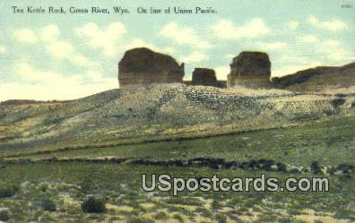 Kettle Rock - Green River, Wyoming WY Postcard
