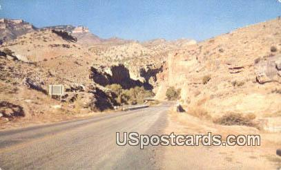 Highway 14 - Shell Canyon, Wyoming WY Postcard