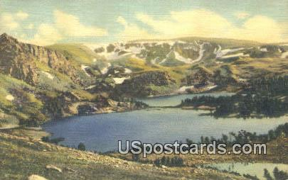 Twin Lakes - Yellowstone National Park, Wyoming WY Postcard