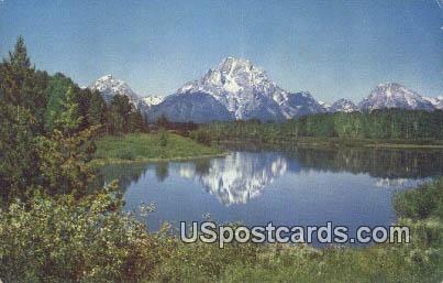 Teton Mountains - Jackson Hole, Wyoming WY Postcard