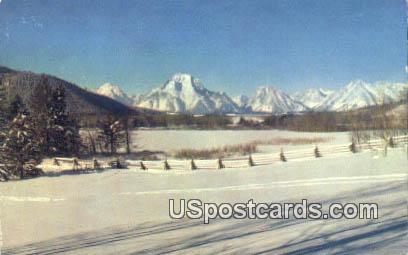Mt Moran - Jackson Hole, Wyoming WY Postcard