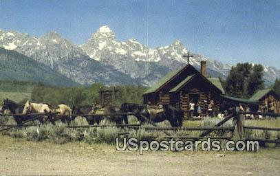 Worshiping - Grand Tetons, Wyoming WY Postcard