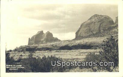 Lower Oak Creek Canyon, Wyoming Postcard      ;      Lower Oak Creek Canyon, WY