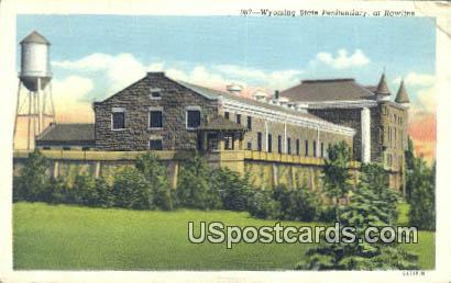 Wyoming State Penitentiary - Rawlins Postcard