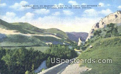 Gateway Rock - Yellowstone National Park, Wyoming WY Postcard