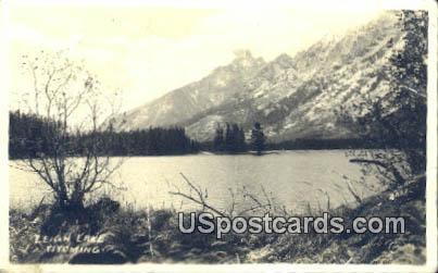 Leigh Lake, WY Postcard       ;      Leigh Lake, Wyoming