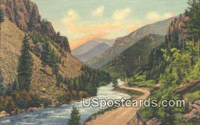 Pines & Cliffs - Yellowstone National Park, Wyoming WY Postcard