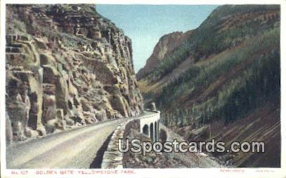 Golden Gate - Yellowstone Park, Wyoming WY Postcard