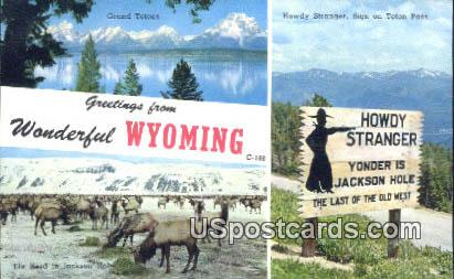 Teton Pass, Wyoming Postcard      ;      Teton Pass, WY