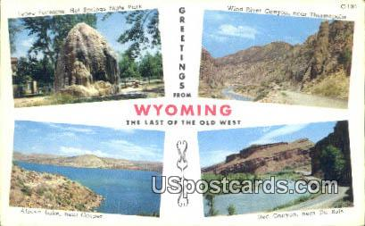 Tepee Fountain, Hot Springs State Park - Wyoming WY Postcard