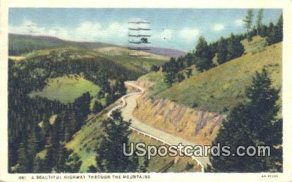 Highway - Misc, Wyoming WY Postcard