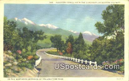 Absoroka Range - Yellowstone Park, Wyoming WY Postcard