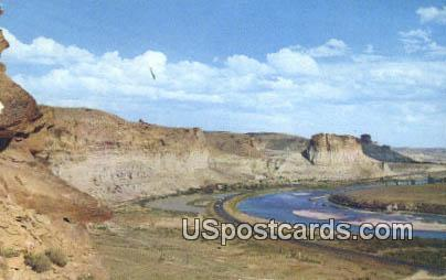 Palisades & Toll Gate - Little America, Wyoming WY Postcard