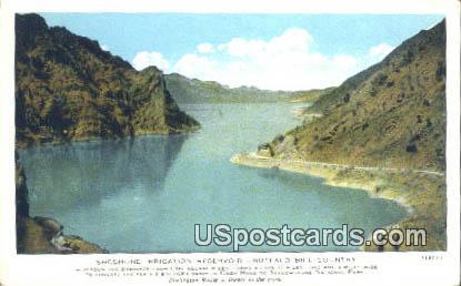 Shoshone Irrigation Reservoir - Buffalo Bill Country, Wyoming WY Postcard