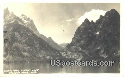 Real Photo - Jenny Lake - Jackson Hole, Wyoming WY Postcard