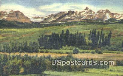 Ram's Horn Peak - Teton National Park, Wyoming WY Postcard
