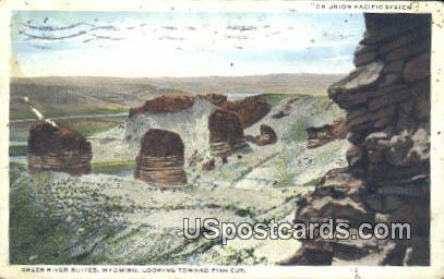 Union Pacific System - Green River Buttes, Wyoming WY Postcard
