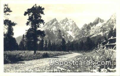 Real Photo  - Teton National Park, Wyoming WY Postcard
