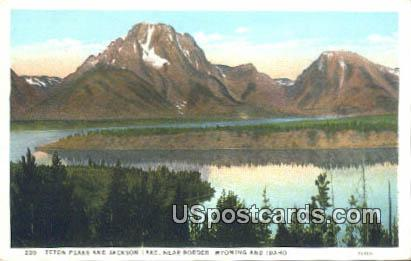Teton Peaks - Jackson Lake, Wyoming WY Postcard