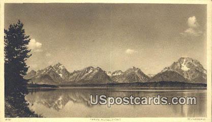 Teton Reflections - Teton Mountains, Wyoming WY Postcard