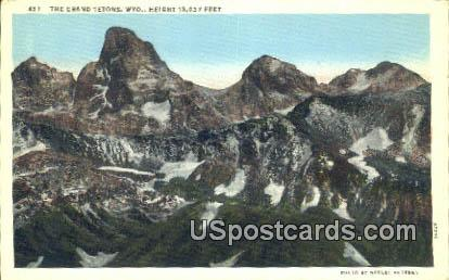 Grand Tetons, Wyoming Postcard      ;      Grand Tetons, WY