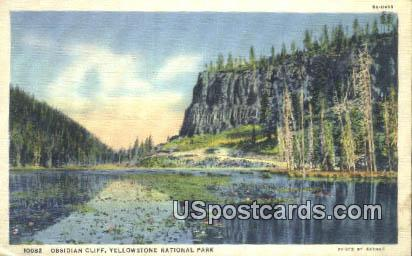 Obsidian Cliff - Yellowstone National Park, Wyoming WY Postcard