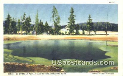 Emerald Pool - Yellowstone National Park, Wyoming WY Postcard