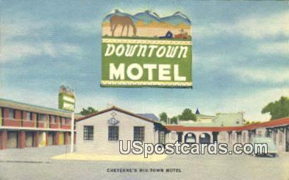 Cheyenne's Mid Town Motel - Wyoming WY Postcard