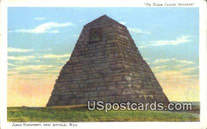 Union Pacific Railroad, Ames Monument - Laramie, Wyoming WY Postcard