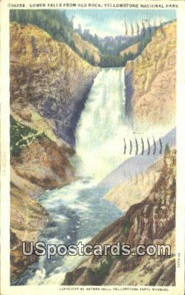 Lower Falls, Red Rock - Yellowstone National Park, Wyoming WY Postcard