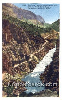 Shoshone Canyon - Yellowstone National Park, Wyoming WY Postcard
