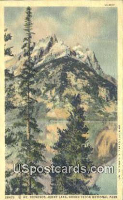 Mt Teewinot, Jenny lake - Grand Teton National Park, Wyoming WY Postcard