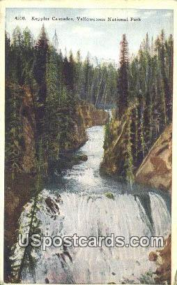 Keppler Cascades - Yellowstone National Park, Wyoming WY Postcard