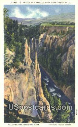Needles, Grand Canyon - Yellowstone National Park, Wyoming WY Postcard