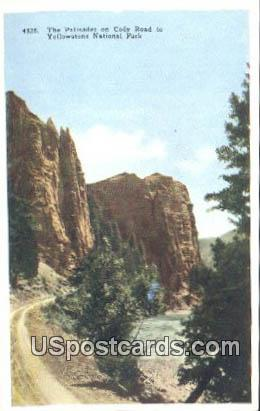 The Palisades, Cody Road - Yellowstone National Park, Wyoming WY Postcard
