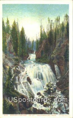 Kepler Cascade - Yellowstone Park, Wyoming WY Postcard