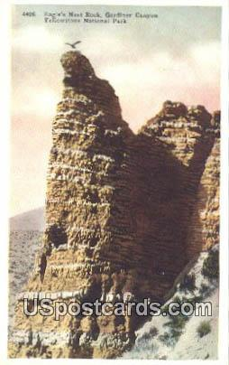 Eagle's Nest Rock, Gardiner Canyon - Yellowstone National Park, Wyoming WY Postcard